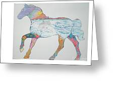 Dolpin Horse Greeting Card