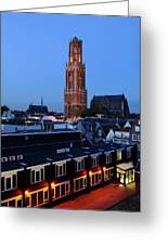 Dom Tower In Utrecht At Dusk 24 Greeting Card