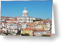 Dome Of Gothic Church In Lisbon Greeting Card