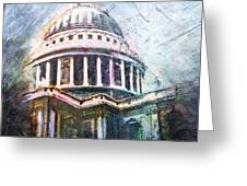 Dome Of Saint Pauls Greeting Card