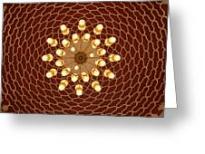 Domed Roof Mandala Greeting Card