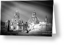 Domes Greeting Card by Stefano Senise