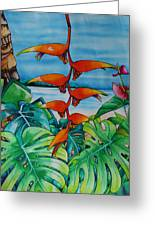 Dominican Heliconia Greeting Card