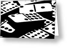 Dominoes IIi Greeting Card by Tom Mc Nemar