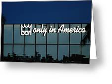Don King Only In America Greeting Card