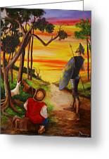 Don Quixote And Sancho Greeting Card