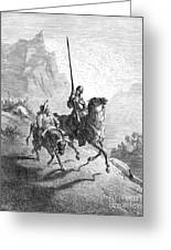 Don Quixote And Sancho Greeting Card by Granger