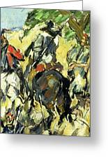 Don Quixote, View From The Back Greeting Card
