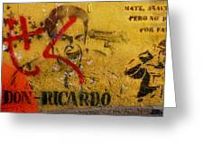 Don-ricardo Greeting Card