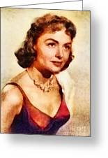 Donna Reed, Vintage Hollywood Actress Greeting Card