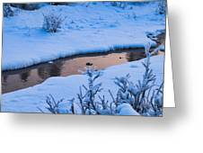Donnelly Creek In Winter Greeting Card