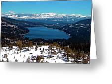 Donner Lake Sierra Nevadas Greeting Card