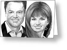Donnie And Marie Osmond Greeting Card