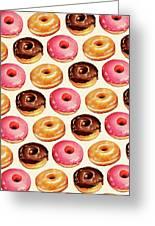 Donut Pattern Greeting Card