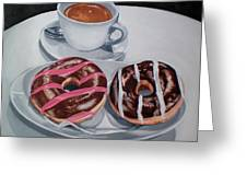Donuts And Coffee- Donas Y Cafe Greeting Card