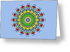 Doodle Mandala Greeting Card