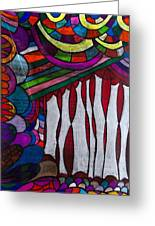 Doodle Page 6 - Bones And Curtains - Ink Abstract Greeting Card