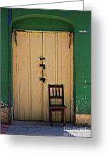 Door And Chair Greeting Card