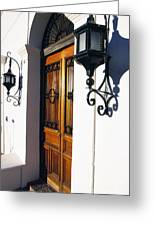 Door And Lamps Greeting Card by Thomas R Fletcher