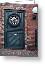 Door And Wheel Greeting Card