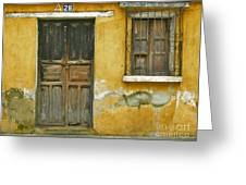 Door And Window Greeting Card