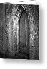 Door At Protestant Church Macroom Ireland Greeting Card