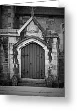 Door At St. Johns In Tralee Ireland Greeting Card