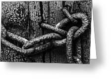 Door Chain Greeting Card