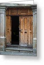 Door Entrance To Church In Guatemala Greeting Card
