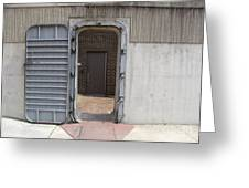 Door In The Richmond Floodwall Greeting Card