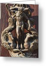 Door Knocker In Venice Greeting Card