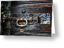 Door Latch Greeting Card