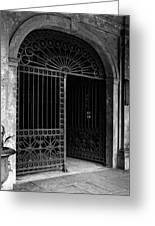 Door Of The Cabildo Greeting Card