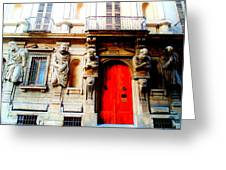Door To Milan Greeting Card by Michelle Dallocchio