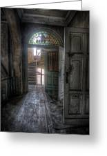 Door To Stairs Greeting Card