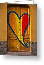 Door With Heart Greeting Card by Joana Kruse