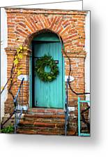 Door With Holiday Reef Greeting Card