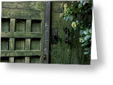 Door With Padlock Greeting Card by Bernard Jaubert