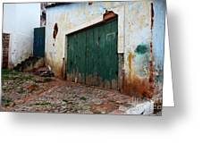 Doors And Windows Lencois Brazil 10 Greeting Card