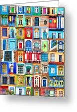 Doors And Windows Of The World - Vertical Greeting Card