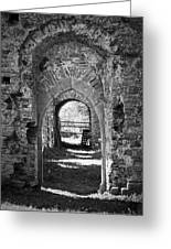 Doors At Ballybeg Priory In Buttevant Ireland Greeting Card