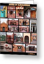 Doors Of Albuquerque Greeting Card
