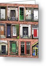 Doors Of England I Greeting Card