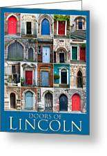 Doors Of Lincoln Greeting Card