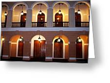 Doors Of San Juan Square Greeting Card