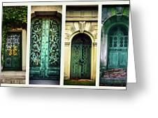 Doors Of Woodlawn Greeting Card