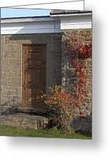 Doorway At The Stone House - Photograph Greeting Card