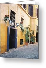 Doorway In Rome Greeting Card
