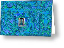 Doorway Into Multi-layers Of Water Art Collage Greeting Card