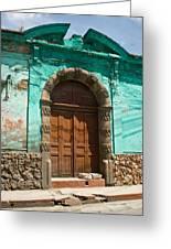 Doorway Quezaltenango Guatemala 1 Greeting Card